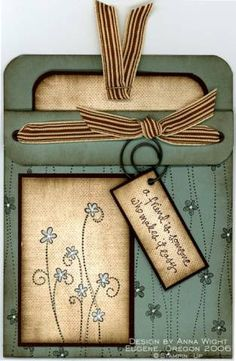 Sage Pocket - Anna Wight using Stampin Up Simply Said