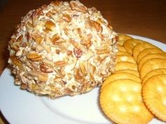 Christmas Cheese Ball. Good for a party appetizer.