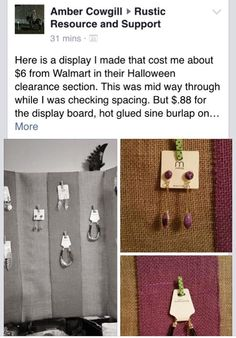 Amber Cowgill getting innovative | Direct Sales ideas | Rustic display