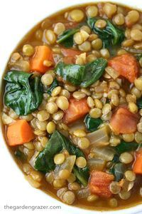 The Garden Grazer: Lentil Spinach Soup Easy, healthy Lentil Spinach Soup spiked with flavorful cumin and smoked paprika! A nutrient-dense plant-based meal and freezer-friendly. Soup Recipes, Whole Food Recipes, Vegetarian Recipes, Dinner Recipes, Cooking Recipes, Healthy Recipes, Healthy Tips, Salad Recipes, Easy Lentil Recipes