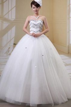 Tulle Sweetheart Modern Bridal Dresses - Order Link: http://www.theweddingdresses.com/tulle-sweetheart-modern-bridal-dresses-twdn0368.html - Embellishments: Beading , Flower , Sash; Length: Floor Length; Fabric: Tulle; Waist: Natural - Price: 152.91USD