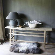 antiek oud houten sidetable
