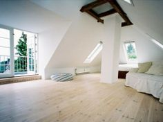 Attic retreat; skylights by VeluxCharlottenlund, DK