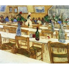 Interior of a Restaurant VanGogh Oil Painting for sale on overArts.com