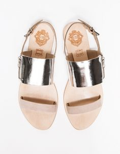 I love the silver in these sandals