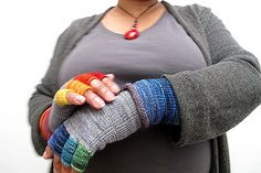 Hot and Cold Fingerless Gloves by isabelle304, via Flickr