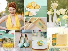 The Perfect Palette: {Sunshine Day}: A Palette of Dusty Aqua, Yellow, Light Yellow + White