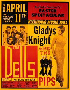 """""""Gladys Knight & The Pips - Kleinhans Music Hall"""" Art Print Taken From A Vintage Concert Poster sold by Andromeda Print Emporium. Shop more products from Andromeda Print Emporium on Storenvy, the home of independent small businesses all over the world. Vintage Concert Posters, Vintage Posters, Vintage Photos, Gladys Knight, Soul Singers, Rock Posters, History Posters, Vintage Music, Vintage Rock"""