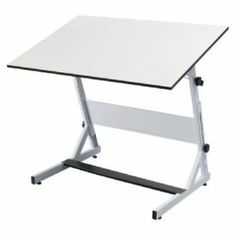 "OPUS EQUUS TABLE WHITE 30x42 Drafting, Engineering, Art (General Catalog) by Alvin. $195.43. OPUS EQUUS TABLE WHITE 30x42 ALVIN® Opus Equus™ Drawing TableThis sturdy table is constructed of heavy gauge steel. Height and tilt adjust independently and are locked in place with easy-to-turn thumbwheels. Height adjusts from 31"" to 44"" in the horizontal position. Tabletop tilts from horizontal (0°) to 90°. Features metal foot plate and adjustable rubberized feet. 8"" modesty ..."
