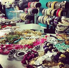 All of the #jewelry we have on set for today's shoot! #bts #behindthescenes #fashion
