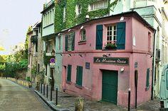 La maison rose de la Butte Montmartre | Flickr - Photo Sharing!        Paris,France