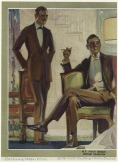[Men in suits, United States, 1920s.] (1921)