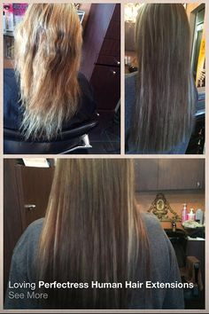 Before | After Perfectress Human Hair Extensions