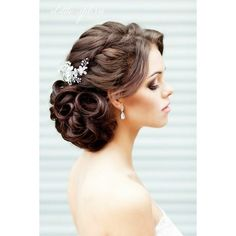 Wedding Up Dos 12 Darling ways to wear an Up Do ❤ liked on Polyvore featuring hair and hair styles