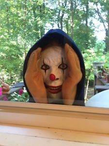 Life Size Evil Clown Peeping Tom Halloween Prop Horror Stalker Figure Creepy | eBay SO Scary!