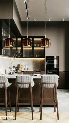Kitchen Room Design, Kitchen Dinning, Kitchen Sets, Modern Kitchen Design, Home Decor Kitchen, Interior Design Kitchen, Kitchen Furniture, Home Kitchens, Dining