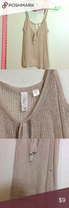 Knit mesh top Has a small snag (in pics) that can be fixed by anyone who has a basic sewing knowledge Tops Tank Tops