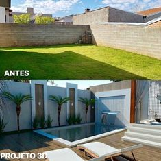 55 attractive backyard swimming pool designs ideas for your small backyard 7 Small Backyard Pools, Backyard Patio Designs, Small Pools, Swimming Pools Backyard, Swimming Pool Designs, Reforma Exterior, Kleiner Pool Design, Small Pool Design, Exterior Makeover