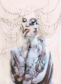By Gaia Alari / Marie Esther #bleaq #art #painting