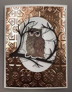 "Stamp set and framelits for the Big Shot – ""Silent Night"" from the Season Catalog 2018 by Stampin Up! Christmas Cards 2018, Xmas Cards, Fall Cards, Winter Cards, Owl Punch Cards, Big Shot, Owl Card, Stamping Up Cards, Bird Cards"