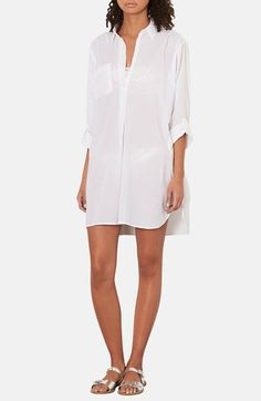 White shirt dress.