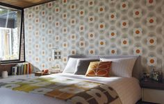 Jazz up your home with graphic wallpaper; Orla Kiely House