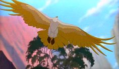The Rescuers Down Under: Marahute, animated by Glen Keane