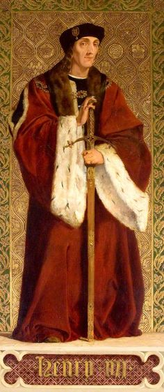 Henry VII as an older man, oil on panel by Richard Burchett (1815–1875), part of his series of portraits at the Palace of Westminster telling the Tudor story