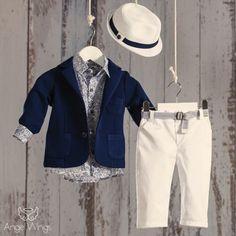 Βαπτιστικό Σύνολο για Αγόρια Tropical | Angel Wings 022 Baby Boy Dress, Boy Christening, Boy Fashion, Boy Outfits, Khaki Pants, Suit Jacket, Blazer, Jackets, Clothes