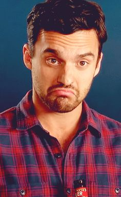 Nick Miller's turtle face.