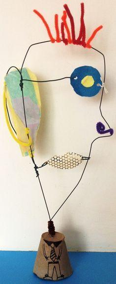 Wire Sculpture Portraits - Sculpture - Print the Sculpture Yourself # . - Wire Sculpture Portraits – Sculpture – Print the Sculpture Yourself # … – Gift - Sculpture Lessons, Sculpture Projects, Sculpture Art, Art Projects, Abstract Sculpture, Portrait Sculpture, Bronze Sculpture, Sculptures Sur Fil, Wire Sculptures