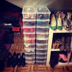 Container Store shoe boxes