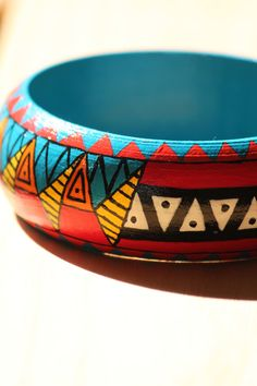 BUY it with 10% DISCOUNT! Use PINXMAS coupon code. Four Indian pattern wooden bracelet by DeaJewelleryStore on Etsy