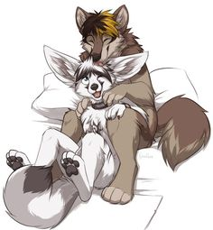 Cute furry love >w