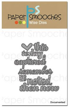 Paper Smooches: JANUARY release day! - Documented