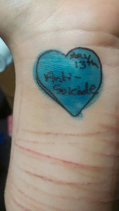 May 13th, draw a blue heart on your wrist for anti suicide day!