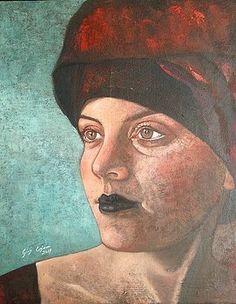Turbante rosso by Giosi Costan