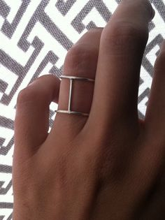 Sterling Silver Double Bar Ring by GemBlue on Etsy