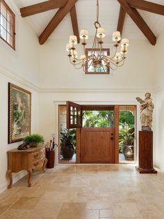 1/3 - 2/3 Dutch entrydoor with divided lights  in Santa Barbara estate.
