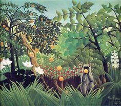 Painting by Henri Rousseau Jungles and Tigers