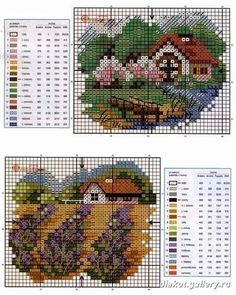 Image result for birds and iris in cross stitch table runner
