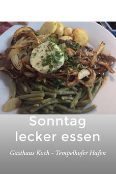 #Sonntag super günstig lecker essen im  #Gasthaus Koch -  #Tempelhofer Hafen  für 7,50 Euro