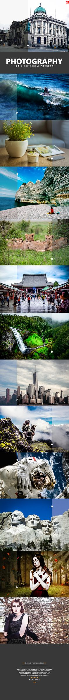 20 Photography Lightroom Presets  • Only available here ➝…