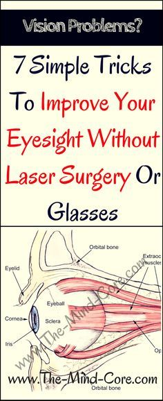 7 Simple Tricks To Improve Your Eyesight Without Laser Surgery Or Glasses - The Mind Core Health And Wellness, Health Fitness, Fitness Foods, Laser Surgery, Eye Sight Improvement, Natural Medicine, Natural Healing, Health Remedies, Healthy Tips