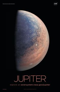 The planet Jupiter. One of the planets in our solar system.