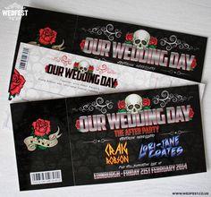 heavy metal wedding invites http://www.wedfest.co/heavy-metal-wedding-stationery/