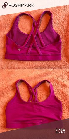 be5ec1b3237 Lululemon Energy sports bra Lululemon Pink Great condition! No pads  lululemon athletica Intimates   Sleepwear