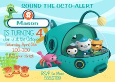 Disney Jr. Octonauts invitation personalized by PrissyParty, $7.99