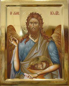 John The Baptist Byzantine Icons, Byzantine Art, Religious Icons, Religious Art, Married With Children, Orthodox Christianity, John The Baptist, Art Icon, Fresco