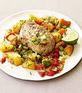 WeIght Watchers Ginger-Soy Pork with Pineapple and Sweet Potato